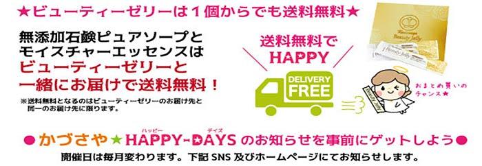 HAPPY-DAYSは送料お得