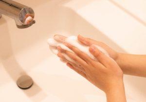 肌バリアを守る、コロナ予防手洗い